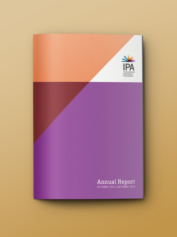 International Publishers Association – Annual report design and layout