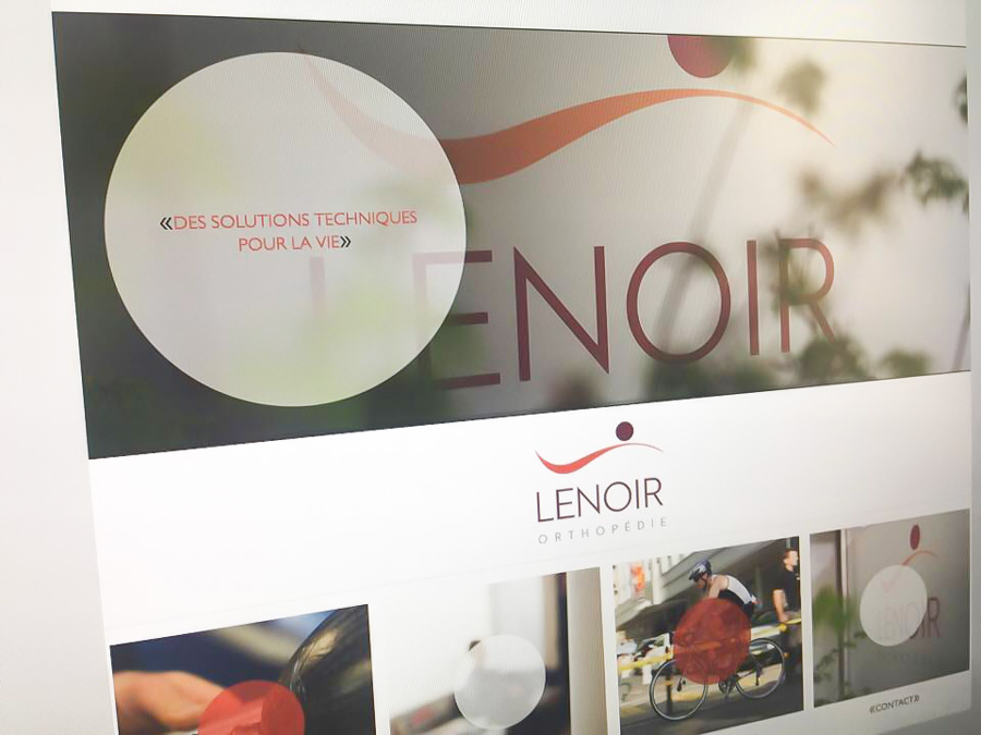 Lenoir Orthopédie – Website design – 2015